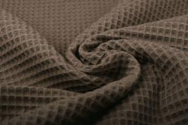 Wafelkatoen kleur  donker Taupe  art WF074