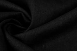 Gewassen 100% Linnen kleur zwart