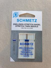 Schmetz  tweelingnaalden 4,0/75