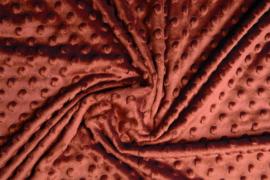 Minky fleece roest brique  Art KL-087 - 20 cm voor