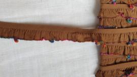 Elastiek rimpel roesjes Art E68  1,5  cm breed - 2 mtr  voor