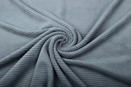Jersey  corduroy   grijsblauw  Art CD1058   -40 cm voor