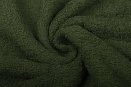 Badstof kleur  Army groen  art BA055 € 12,00 per meter . 50 cm voor