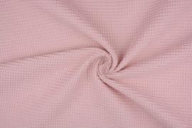 Wafelkatoen kleur Poeder roze art WF68