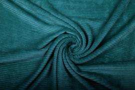 Jersey  corduroy   petrol  Art CD026  -40 cm voor
