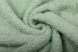 Badstof kleur Oud groen  art BA-034 € 12,00 per meter. 50 cm voor