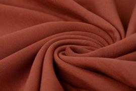 French Terry tricot stoffen kleur Brique