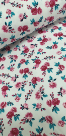 Cotton jersey Roses Red  ART 1581-065
