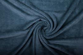 Jersey  corduroy   Jeansblauw    Art CD1031 -40 cm voor