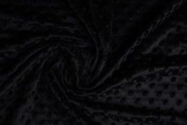 Minky dot  zwart  Art KL-022 - 20 cm voor