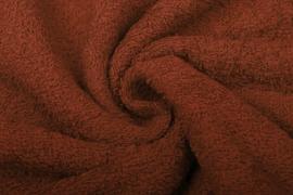 Badstof kleur Brique   art 087  € 12,00 per meter. 50 cm voor