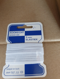 Pakje baby elastiek plat  wit € 1,00