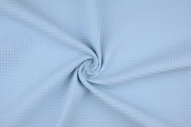 Wafelkatoen  baby blauw   art WF12