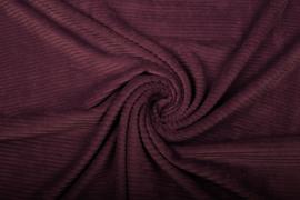 Jersey  corduroy   aubergine  Art CD78   -40 cm voor