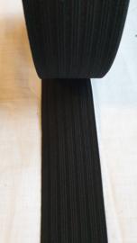 zwart elastiek  5 cm breed - 1 meter voor
