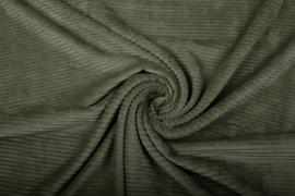 Jersey Corduroy  army green     Art CD055  - 40 cm voor