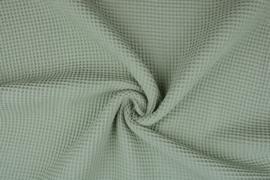 Wafelkatoen kleur oud groen art WF032