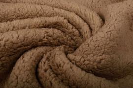 Teddy stof mokka bruin Art 075 - 50 cm voor