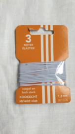 Pakje baby elastiek rond wit 3 meter € 1,00