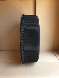 zwart elastiek met kartelrandje aanbieding