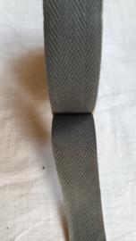 Keperband grijs   3 cm breed - 1 meter