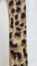Elastiek panter   4 cm breed - 50 cm voor