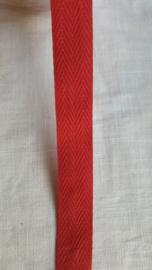Keperband rood   1,8 cm breed - 1 meter