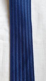 Donkerblauw elastiek met ribbel - 1 meter voor