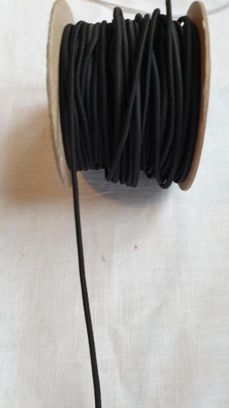 Koord elastiek zwart  Art K016 - 1 meter
