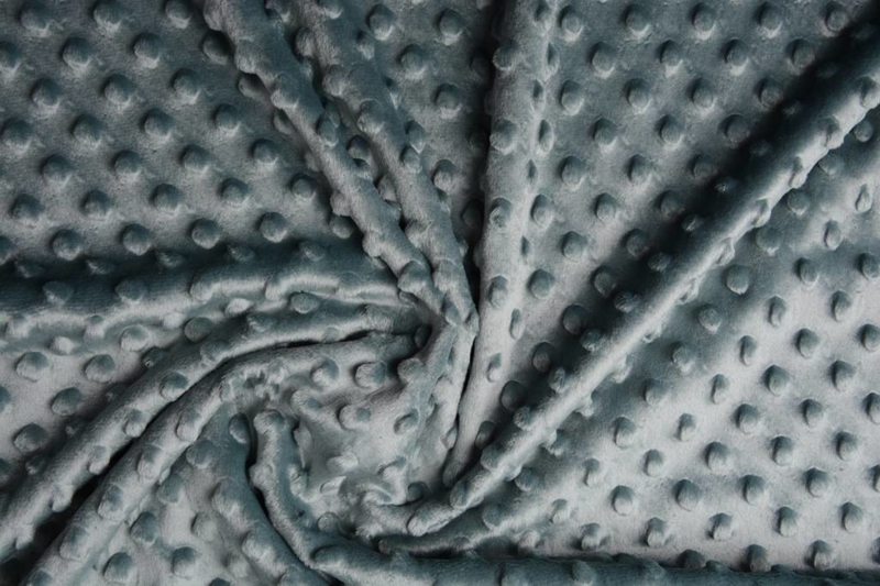 Minky dot  oud groen   Art Kl-134 - 40 cm voor