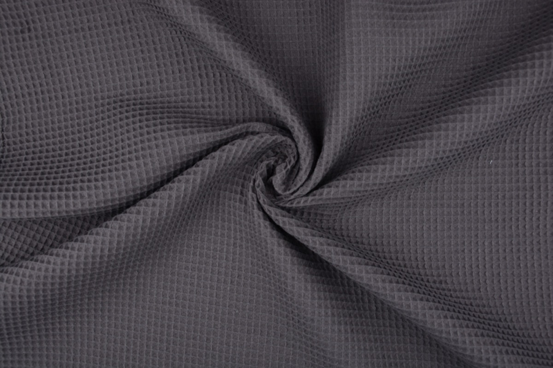 Wafelkatoen kleur diep donkergrijs art WF71