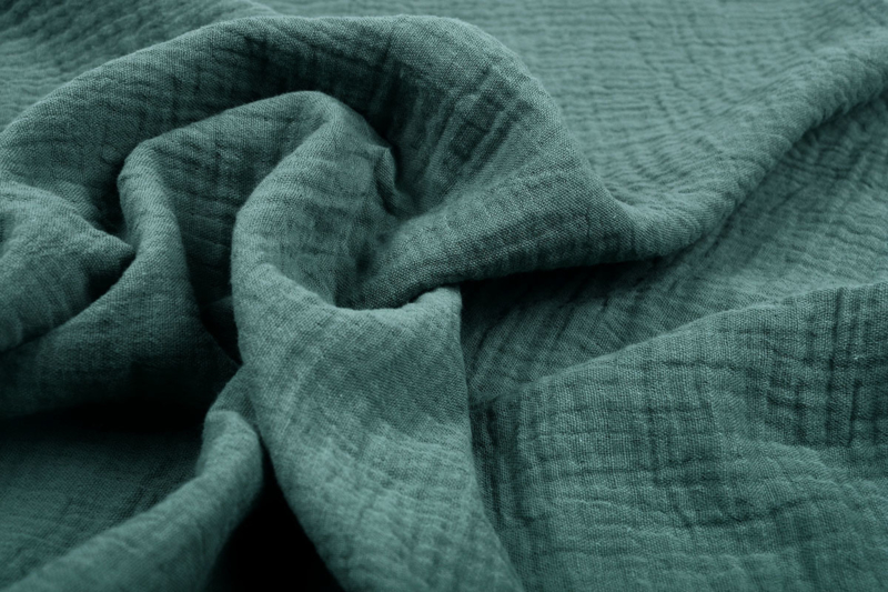 Hydrofiel doek 100% cotton  donker oud groen  Art 0186 -034