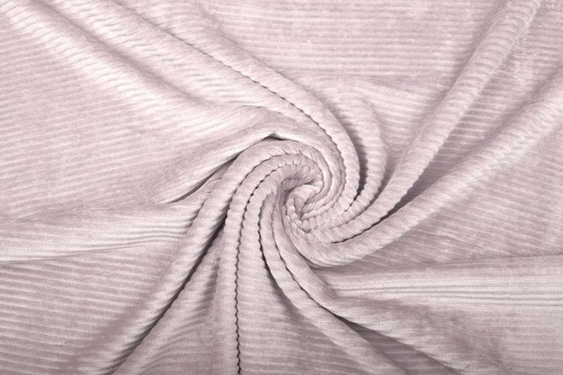 Jersey Corduroy  poeder roze     Art CD068 - 40 cm voor
