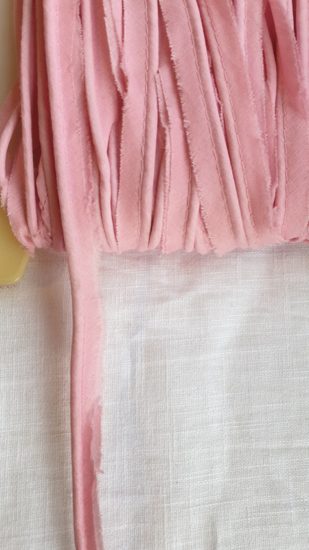 Paspel band katoen roze  € 0,50 p/m