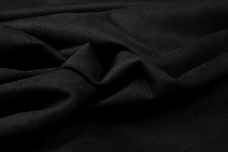 Alcantara imitatie Stretch suède   ARTQ22017-022   zwart  - 40 cm voor