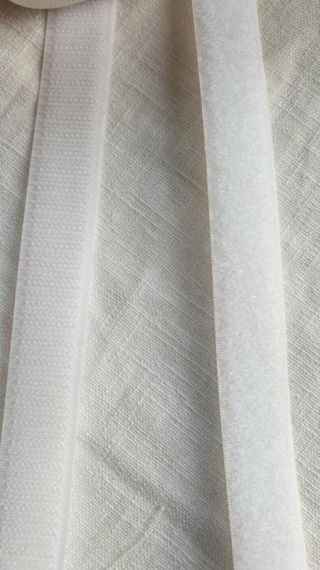klitten band wit  2 cm breed  - 1 meter