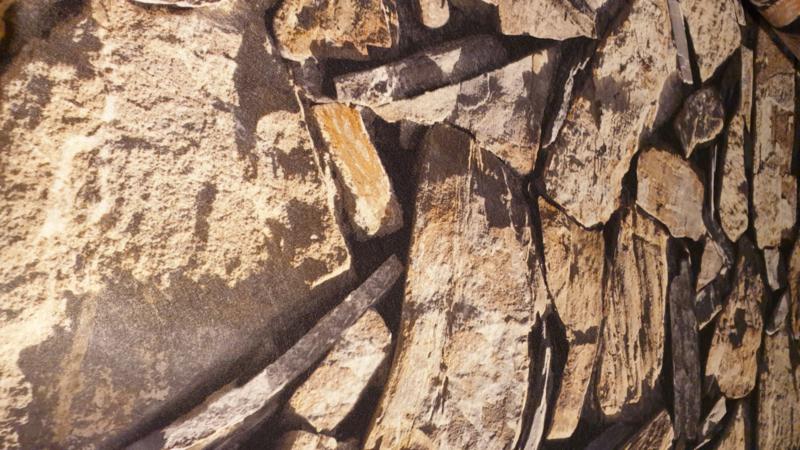 Vilt met bedruk steen  motief  € 10,- p/m  - 50 cm voor