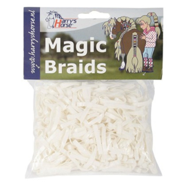Magic braids zakje Elastiekjes, Harrys Horse, wit