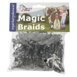 Magic braids zakje Elastiekjes, Harrys Horse, zwart