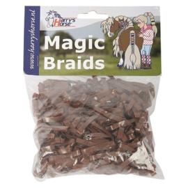 Magic braids zakje Elastiekjes, Harrys Horse, Bruin