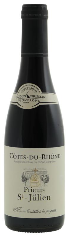 FRANKRIJK   Prieurs de St-Julien Côtes-du-Rhône rouge (0,375 liter)  