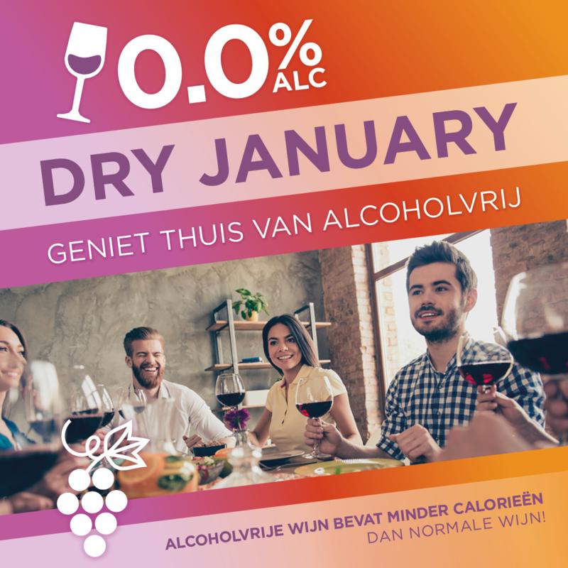 29 januari 2021  | Dry januari.... Alcoholvrije online wijnproeverij