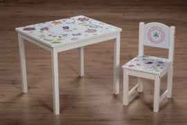 Geboortekaart stoel & tafel