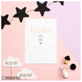 Hello little ones || Ansichtkaart || per 5 stuks
