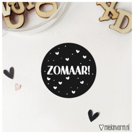 Sticker || zomaar! || per doosje 250 stuks