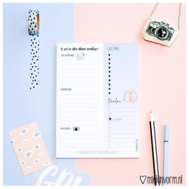 Dagplanner A5 || Let's do this today || per 5 stuks