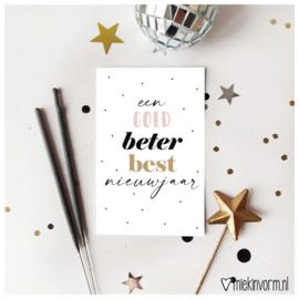Een goed beter best nieuwjaar || Mini-kaart || per 5 stuks