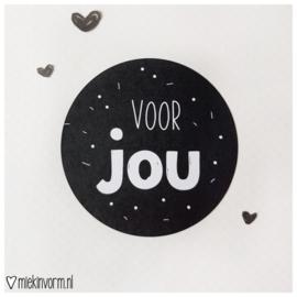 Sticker || voor jou || per doosje 250 st