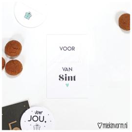 Voor... van Sint 2018|| Mini-kaart || per 5 stuks