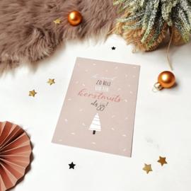 Ansichtkaart met glitterlak  || Ik word zo blij van een kerstmuts als jij! || per 5 stuks